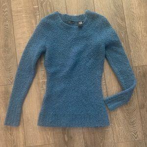 MODA INTERNATIONAL blue wool sweater